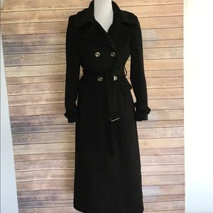 Calvin Klein Professional Black Wool Trench Coat